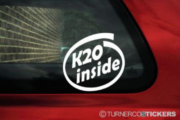 K20 inside sticker. For Honda Civic type R, EP / Integra DC5, accord euro-R - K-series jdm vtec